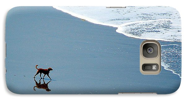 Galaxy Case featuring the photograph Surfer Dog by AJ  Schibig