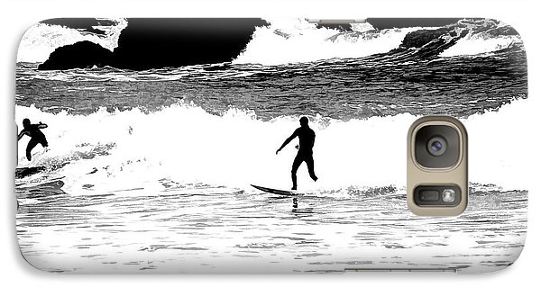 Galaxy Case featuring the photograph Surfer Silhouette by Kathy Churchman