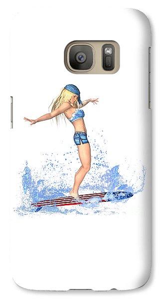Luxmaris Galaxy S7 Case - Surfing Girl by Renate Janssen