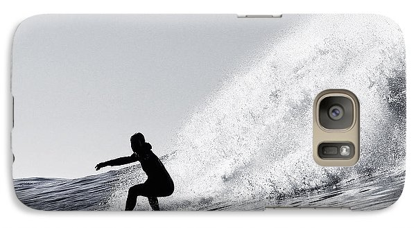 Galaxy Case featuring the photograph Surfing The Avalanche by Paul Topp