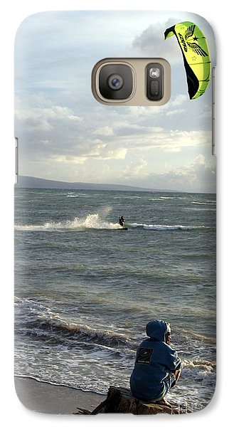 Galaxy Case featuring the photograph Surfs Up by Mary Lou Chmura