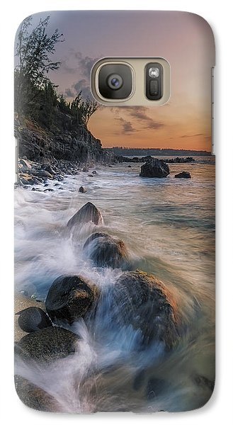 Galaxy Case featuring the photograph Surging Sunset by Hawaii  Fine Art Photography