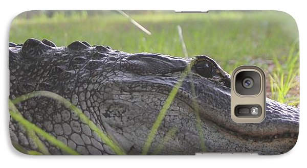 Galaxy Case featuring the photograph Surprise Alligator House Guest  2 by Dodie Ulery