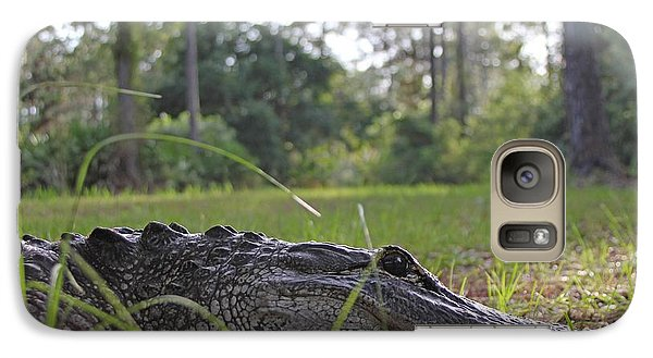 Galaxy Case featuring the photograph Surprise Alligator Houseguest by Dodie Ulery