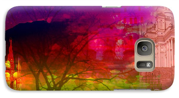 Galaxy Case featuring the digital art Surreal Buildings  by Cathy Anderson