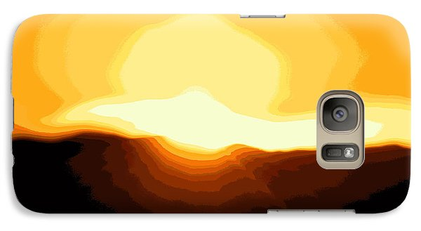 Galaxy Case featuring the photograph Surreal Mountain Sunset by Clarice  Lakota
