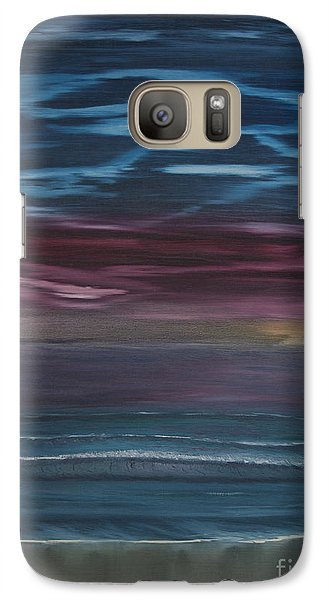 Galaxy Case featuring the painting Surreal Sunset by Ian Donley