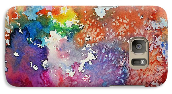 Galaxy Case featuring the painting Surreal Sunset by Joan Hartenstein