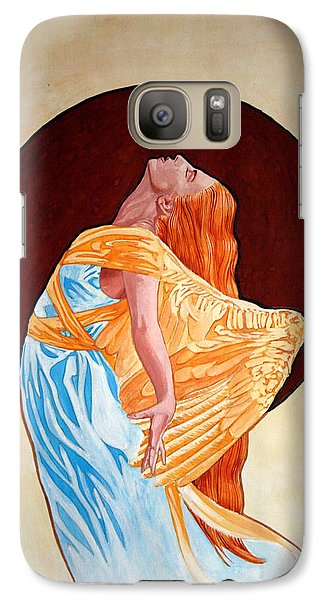 Galaxy Case featuring the painting Surrender by Leena Pekkalainen