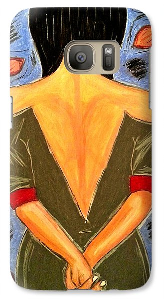 Galaxy Case featuring the drawing Surrendered by Chrissy  Pena