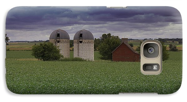 Galaxy Case featuring the photograph Surrounded By Fields by Rebecca Davis