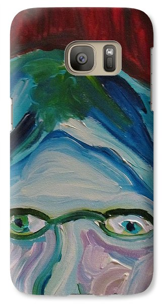Galaxy Case featuring the painting Surrounded By Seven Cats by Shea Holliman