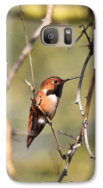 Galaxy Case featuring the photograph Surrounded By Thorns by Amy Gallagher