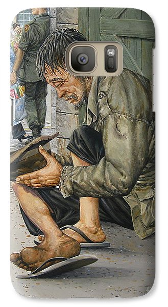 Galaxy Case featuring the painting Survivors by Bob  George