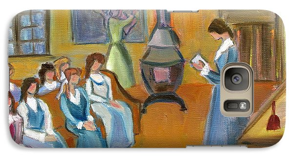 Galaxy Case featuring the painting Susan B. Anthony Teaching In Canajoharie by Betty Pieper