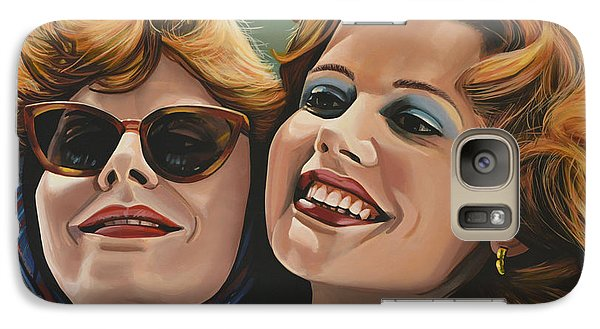 Realistic Galaxy S7 Case - Susan Sarandon And Geena Davies Alias Thelma And Louise by Paul Meijering