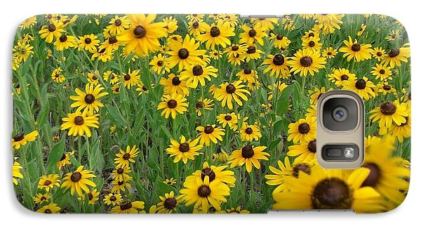 Galaxy Case featuring the photograph Susans In The Wind by Elizabeth Sullivan