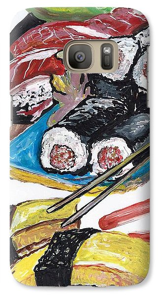 Galaxy Case featuring the painting Sushi Bar Painting by Ecinja Art Works