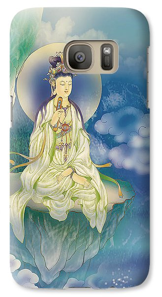 Galaxy Case featuring the photograph Sutra-holding Kuan Yin by Lanjee Chee