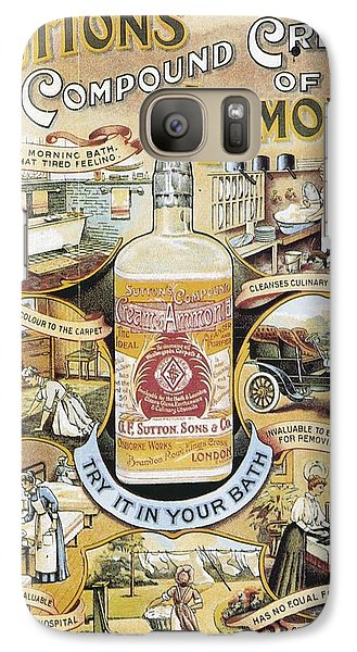 Galaxy Case featuring the photograph Sutton's Compound Cream Of Ammonia Vintage Ad by Gianfranco Weiss