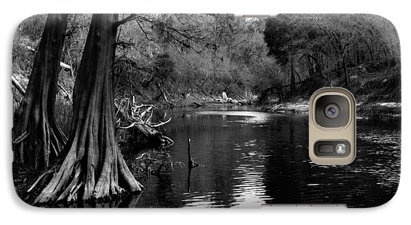 Galaxy Case featuring the photograph Suwannee River Black And White by Donald Williams