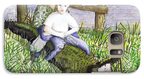 Galaxy Case featuring the painting Swamp Boys by June Holwell