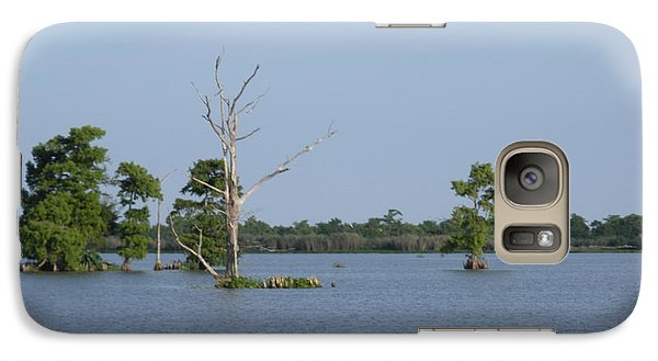 Galaxy Case featuring the photograph Swamp Cypress Trees by Joseph Baril