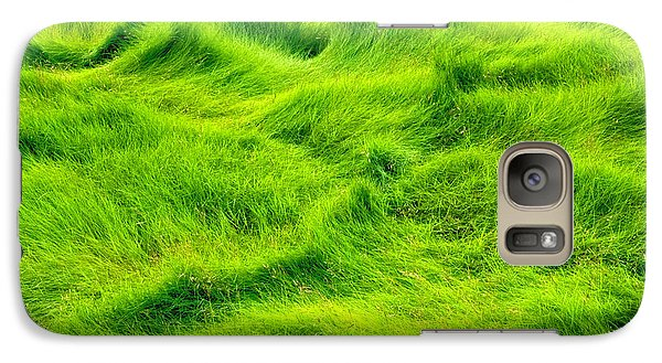 Galaxy Case featuring the photograph Swamp Grass Abstract by Gary Slawsky