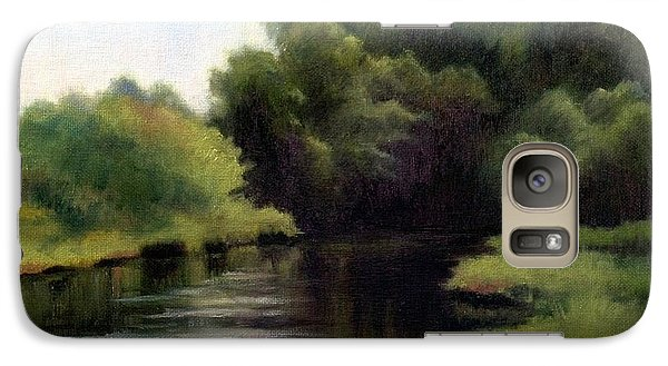 Galaxy Case featuring the painting Swan Creek by Janet King