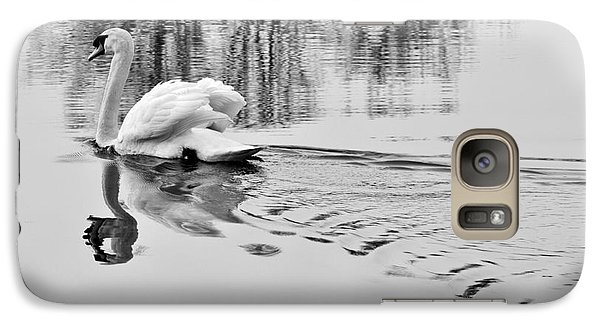 Galaxy Case featuring the photograph Swan Elegance by Simona Ghidini