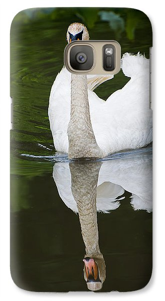 Galaxy Case featuring the photograph Swan In Motion by Gary Slawsky