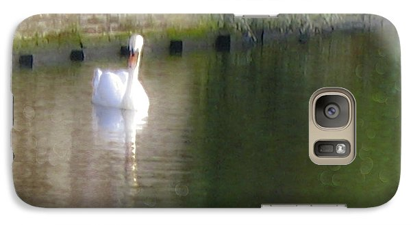 Galaxy Case featuring the photograph Swan In The Canal by Victoria Harrington