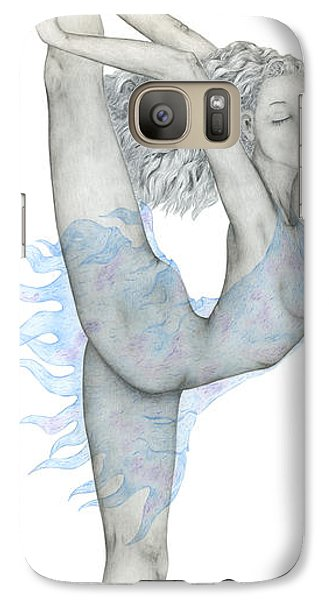 Galaxy Case featuring the drawing Swan. by Kenneth Clarke