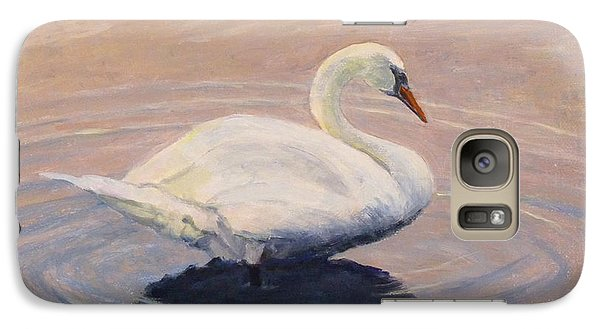 Galaxy Case featuring the painting Swan Lake by Joe Bergholm