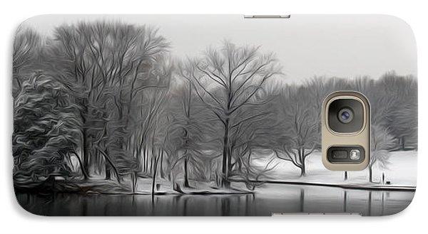 Galaxy Case featuring the digital art Swan Lake by Kelvin Booker