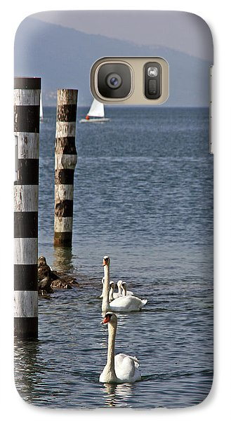 Galaxy Case featuring the photograph Swan Lake by Leena Pekkalainen