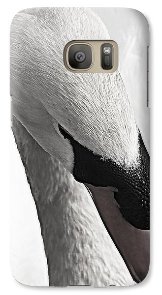Galaxy Case featuring the photograph Swan Lake Showdown... by Tammy Schneider