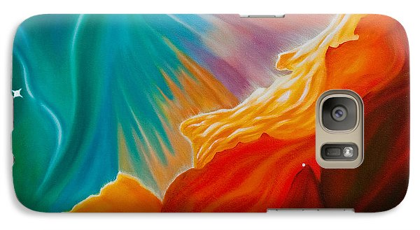 Galaxy Case featuring the painting Swan Nebula by Barbara McMahon