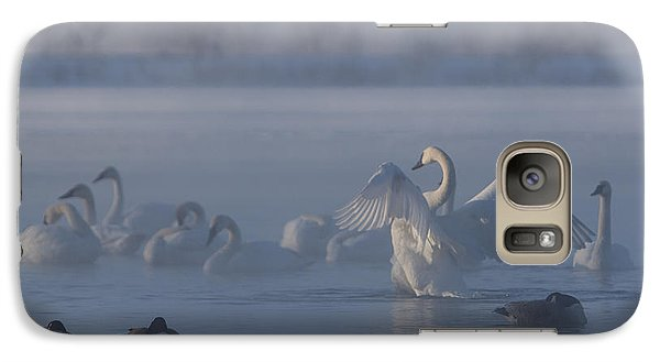 Galaxy Case featuring the photograph Swan Showing Off by Patti Deters