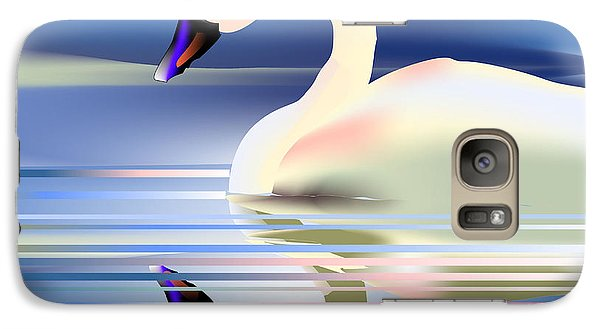 Galaxy Case featuring the digital art Swan Song by Arline Wagner