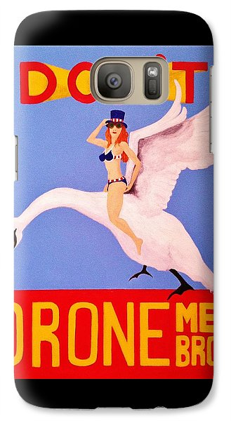 Galaxy Case featuring the painting Swan Song by Rand Swift