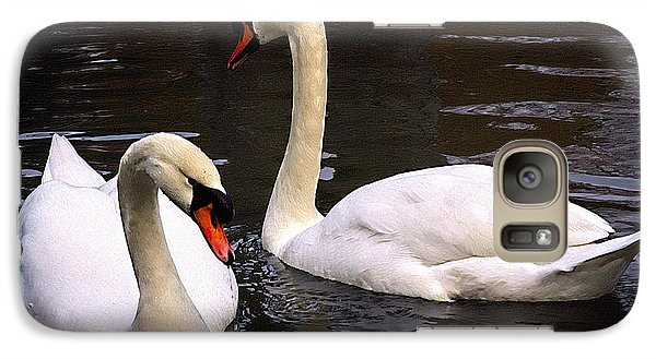 Galaxy Case featuring the photograph Swan Two by Elf Evans