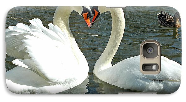 Galaxy Case featuring the photograph Swans At City Park by Olivia Hardwicke