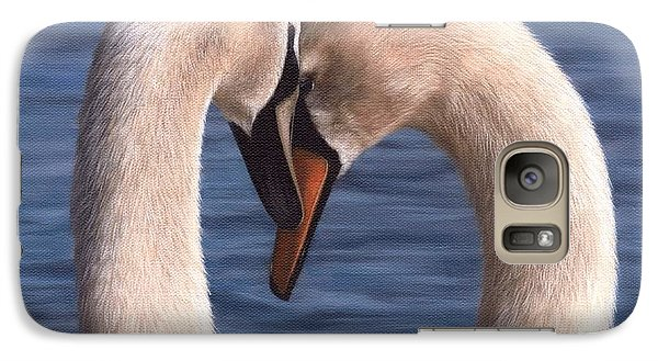 Swans Painting Galaxy S7 Case by Rachel Stribbling