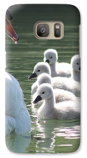 Galaxy Case featuring the photograph Swans  by Rogerio Mariani