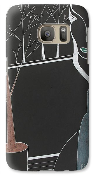 Galaxy Case featuring the painting Swedish Cafe by Bill OConnor