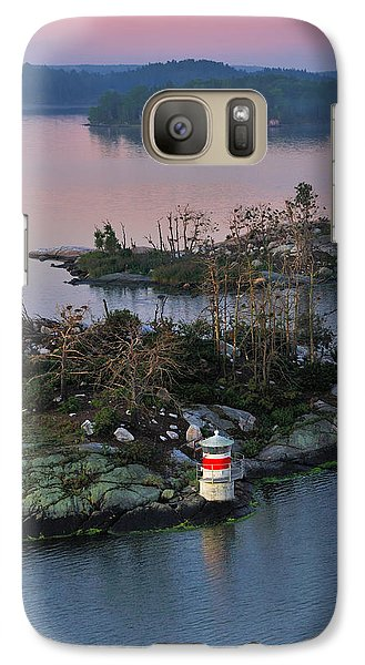 Galaxy Case featuring the photograph Swedish Lighthouse At Dawn by Marianne Campolongo