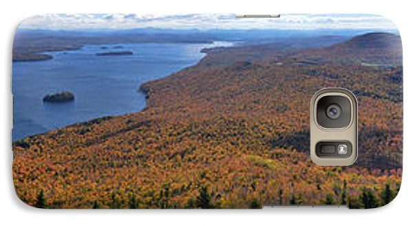 Galaxy Case featuring the photograph Sweeping Fall Panorama Over Lake Memphremagog by Sebastien Coursol