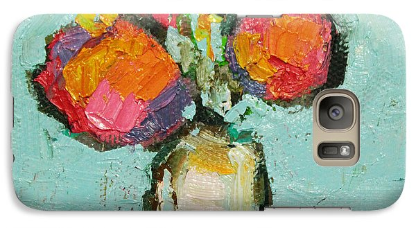 Galaxy Case featuring the painting Sweet Flowers by Becky Kim