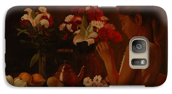 Galaxy Case featuring the painting Sweet Innocence by Rick Fitzsimons